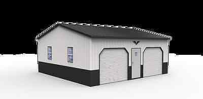 Vertical Garage 24x26x10 - Vertical Walls!  Priced for most southern states!