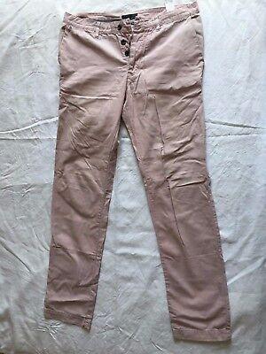 PANTALON LIN slim COTON ROSE VINTAGE TAILLE T 44 42 ZARA MAN PANTS | eBay