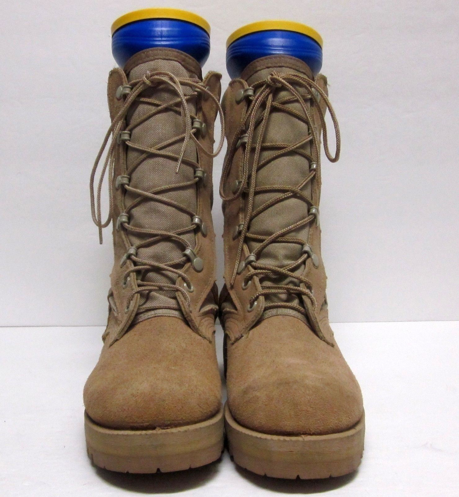 NWOB WELLCO (Sz 7) R 239-86 HOT WEATHER Military Boots Vibram Soles SUEDE