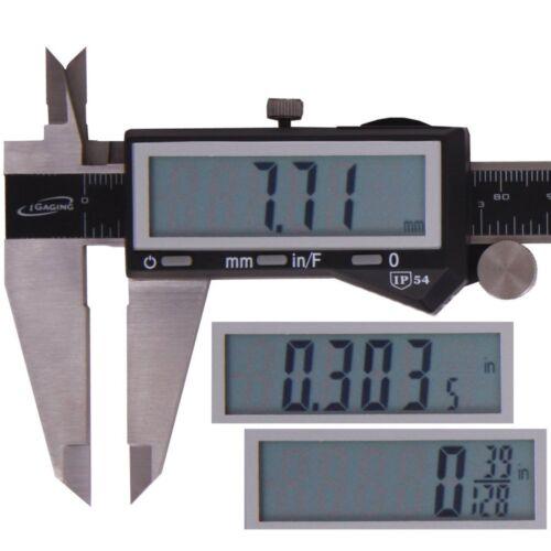 "12/"" DIGITAL ELECTRONIC CALIPER LARGE LCD X-PRECISION INCH METRIC FRACTION 1//128"