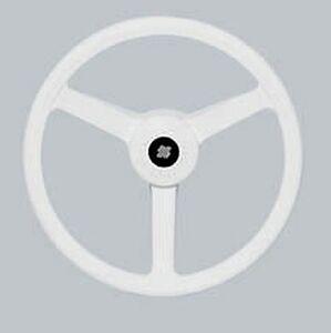 Details about White Ultraflex Boat Steering Wheel - 335mm