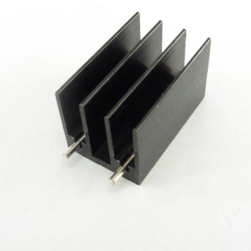 Disipador térmico de aluminio negro 16mm X 16mm X 25mm TO-220 Enfriador para IC Chip disipador de calor