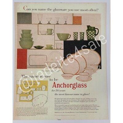 Fire King Anchor Hocking Ad Advertisment Jadeite Jadite Anchorglass