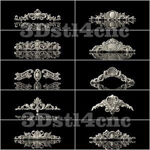 10-3D-STL-Models-Decor-Elements-for-CNC-Router-Carving-Machine-Artcam-aspire