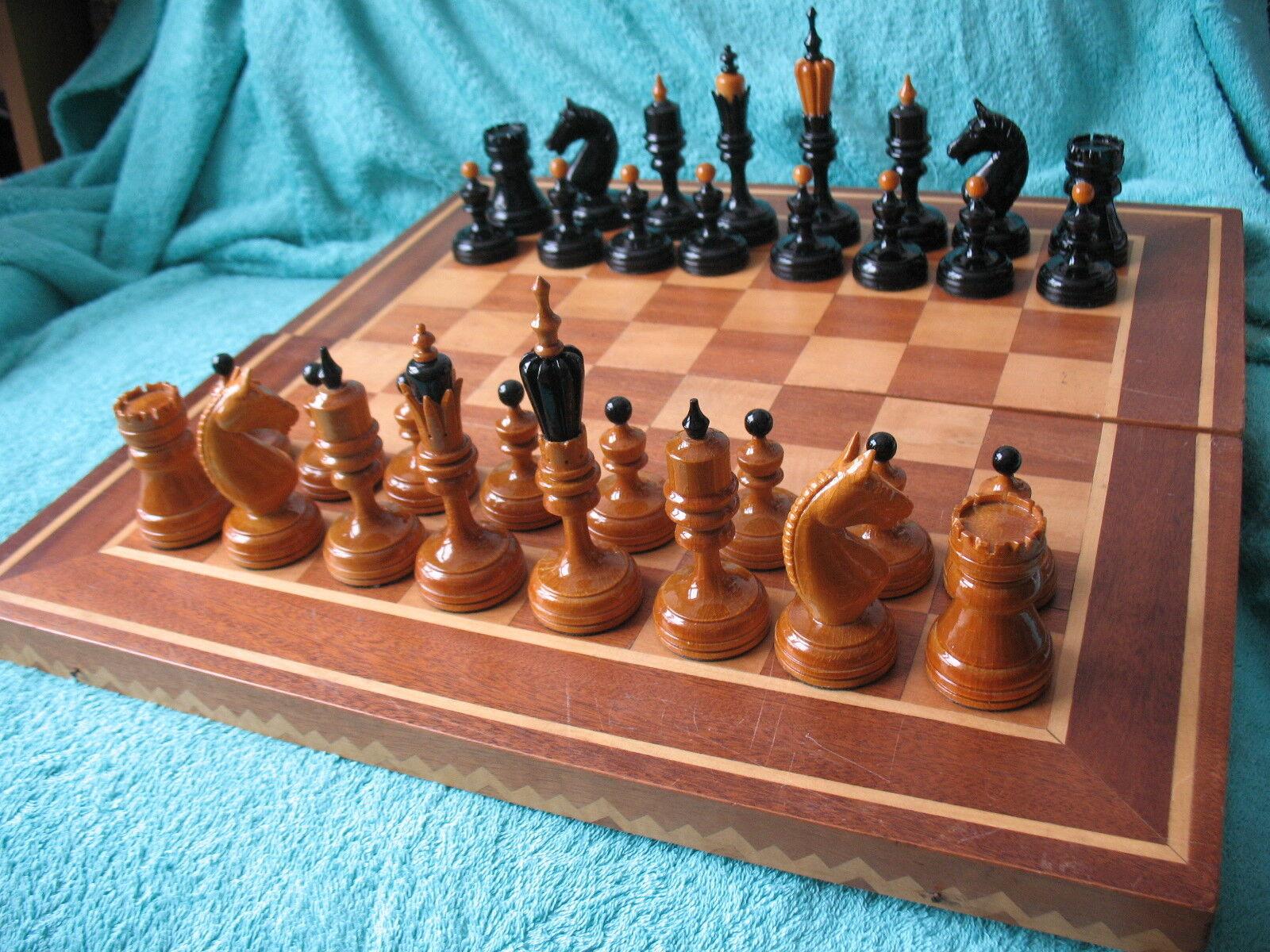 sconto online Russian Soviet Old Wooden Chess uomo uomo uomo tavola cifra Brain gioco gree Old Wood Vintage  negozio online