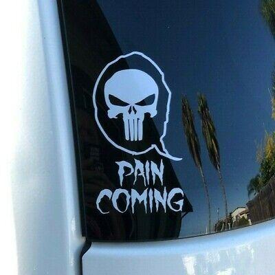Qanon Q Punisher Skull Pain Coming Premium Die Cut Vinyl ...