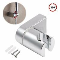 360° Adjustable Chrome Shower Head Bracket Wall Mounted Holder Stand Bathroom