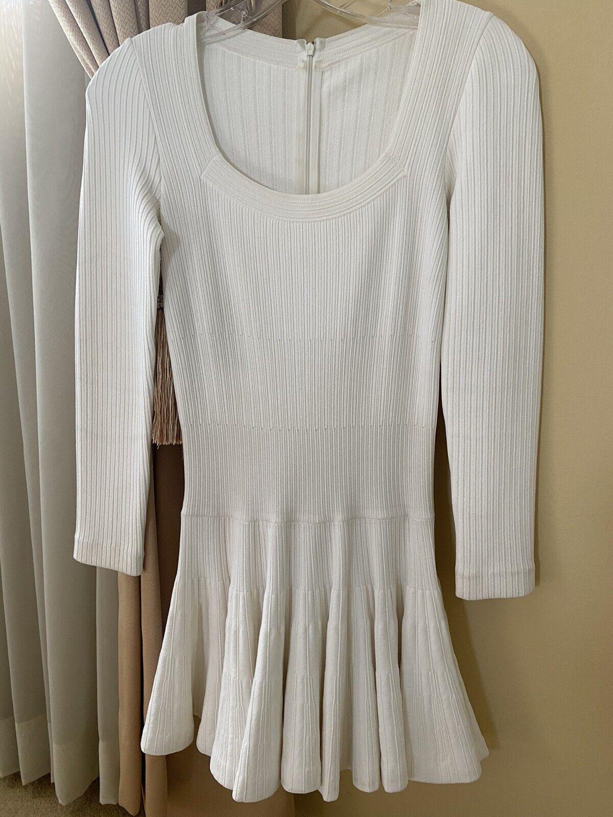Azzedine Alaia White Long Sleeve Top Blouse Dress… - image 1
