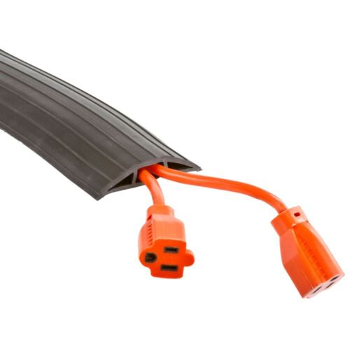 2-Cable Wire Extension Cord Drop-Over Floor Cover Protector 29.5 ft
