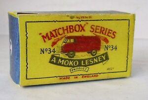 Repro box MATCHBOX 1:75 Nº 34 volkswagen Microvan  </span>