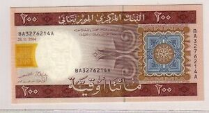 Mauritania-200-oyguiya-2004-Pick-11a-FDS-UNC-lotto-2665