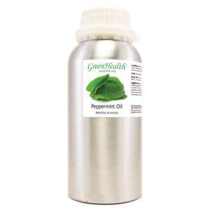 16 fl oz Peppermint Essential Oil Pure Natural in High Quality Aluminum Bottle