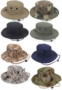 879af26b85eb6 Image is loading Adjustable-Boonie-Hat-Hunting-Tactical-Military-Style -Rothco
