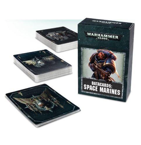8th Ed Warhammer 40k: Datacards: Space Marines NIB 48-02-60