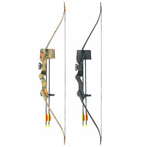 20-lb-Black-Camouflage-Camo-Archery-Hunting-Recurve-Bow-Arrows-Compound-40-30
