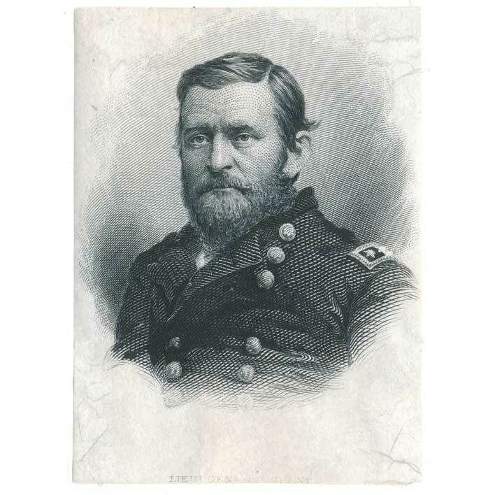 Ulysses S. Grant Die Proof Engraving on india 1870s
