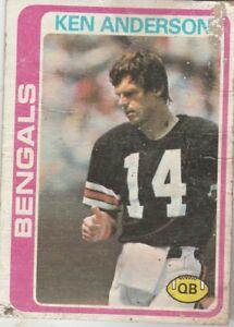 FREE-SHIPPING-POOR-1978-Topps-205-Ken-Anderson-Cincinnati-Bengals