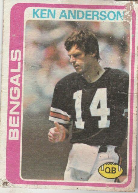 FREE SHIPPING-POOR-1978 Topps #205 Ken Anderson Cincinnati Bengals