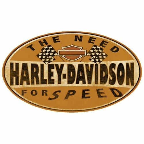 "Harley Davidson Motorcycles Metal Sign Vintage Classic 3D Embossed 18″x10/"" Speed"