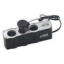 Car Cigarette Lighter Multi Socket Splitter 3Way USB Charger Adapter 12V HotSale