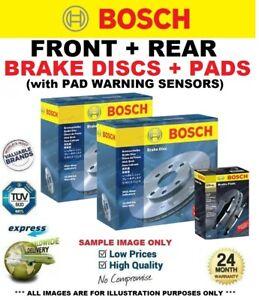 BOSCH FRONT + REAR BRAKE DISCS & PADS + SENSORS for BMW 1 (E81) 116 d 2008-2012
