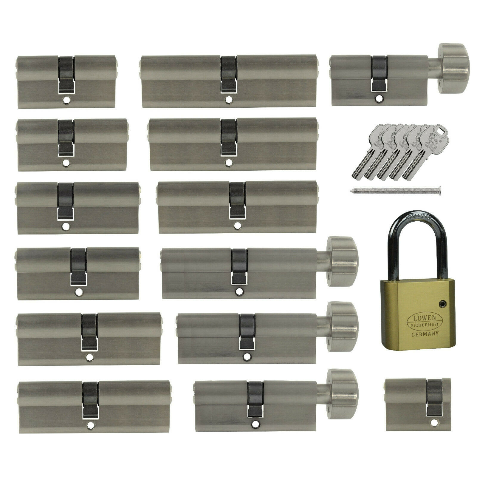 Tür Profil und Knauf Zylinder kombinieren Not+Gefahrenfunktion gleichschliessend
