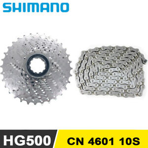 Shimano CS HG500 Cassette 25T 28T CN 4601 Chain 10 Speed MTB Bicycle Cycle New