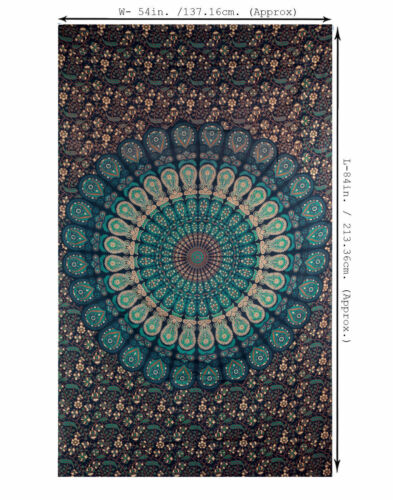 100 /% Cotton Mandala Tapestry tapestries Wall Hanging Indian Throw Hippie Cover