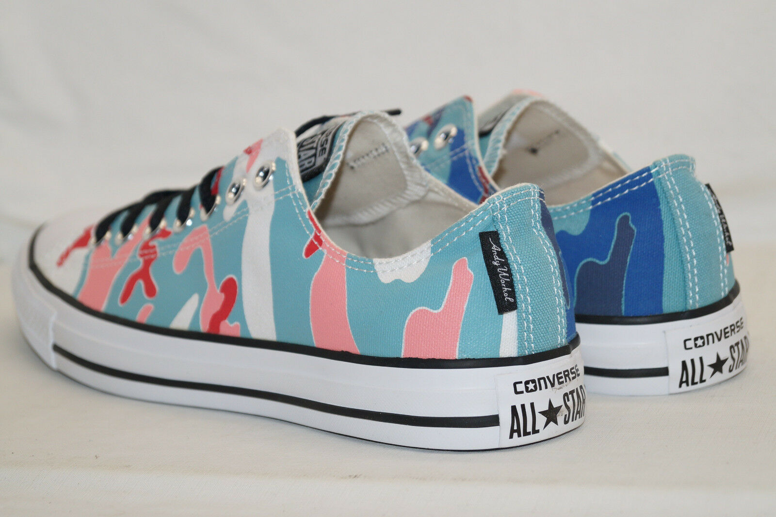 CONVERSE Gr.42,5 CHUCKS ALL STAR LOW Gr.42,5 CONVERSE UK 6,5 CT OX WARHOL Ni Nile Blau 149489C fe4139