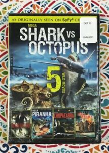 Details about 5 Movie Syfy Collection NEW DVD: Shark vs  Octopus~Momentum~Piranha~Chupacabra