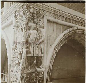 Italia Venezia c1910 Dettaglio Palais Ducale Foto Stereo Placca Da Lente VR12g