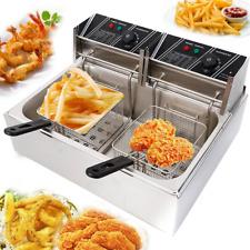 12l Single Tank Electric Deep Fryer Commercial Restaurant Temperature Control Us