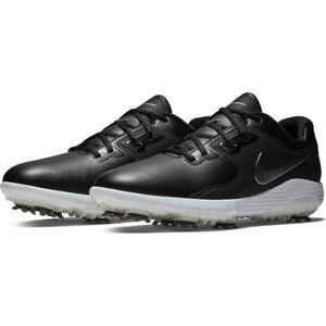 Nike-Vapor-Pro-Golf-Schuhe-UK-7-amp-8-schwarz-silber-weiss-aq2197-001