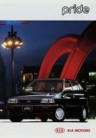 Kia Pride Prospekt 1995 brochure 3 95 Auto PKWs Korea Asien Autoprospekt Werbung