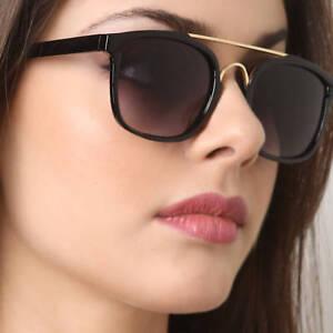desigual en el rendimiento diversos estilos realmente cómodo Detalles de Elegante Cuadrado Moda Mujer Gafas de Sol Metal Bridge Trendy  Retro Marco