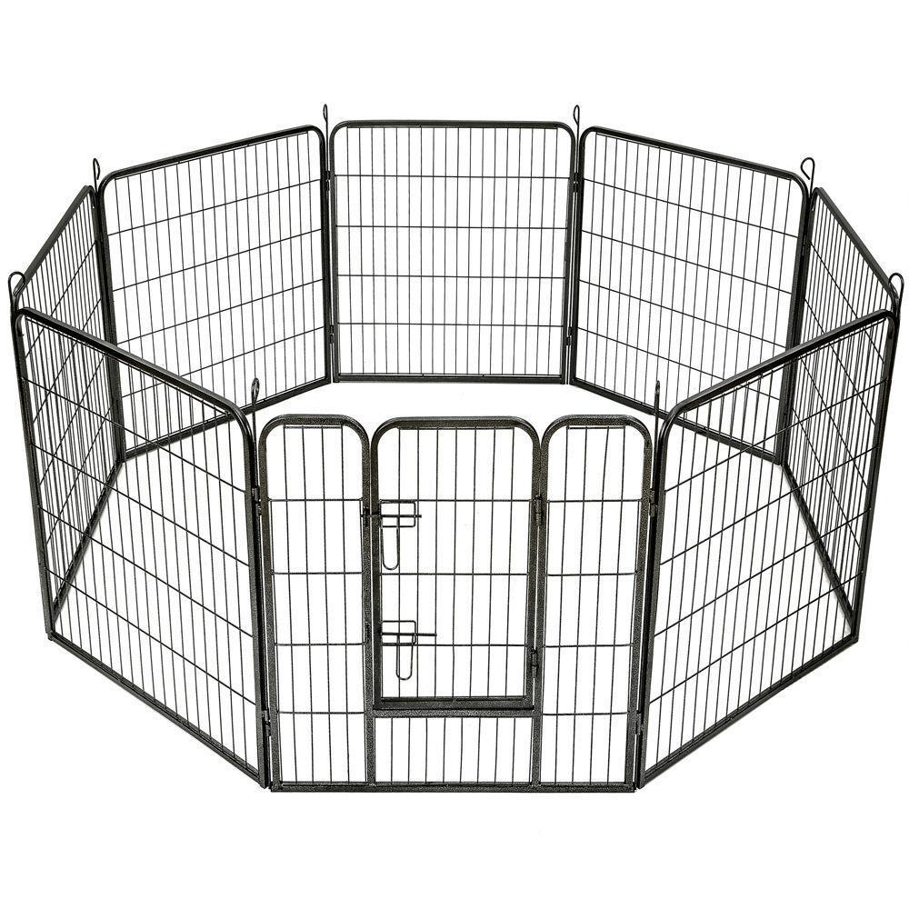 Heavy Duty Pet Box Cane Gabbia Coniglio Penna pieghevole 8 lati recinto 80X80CM