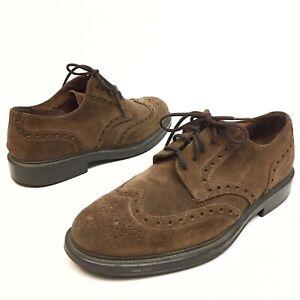 ✅💟✅@ Banana Republic Men's Brown Suede Leather Dress Wingtip Oxfords Shoes 10D
