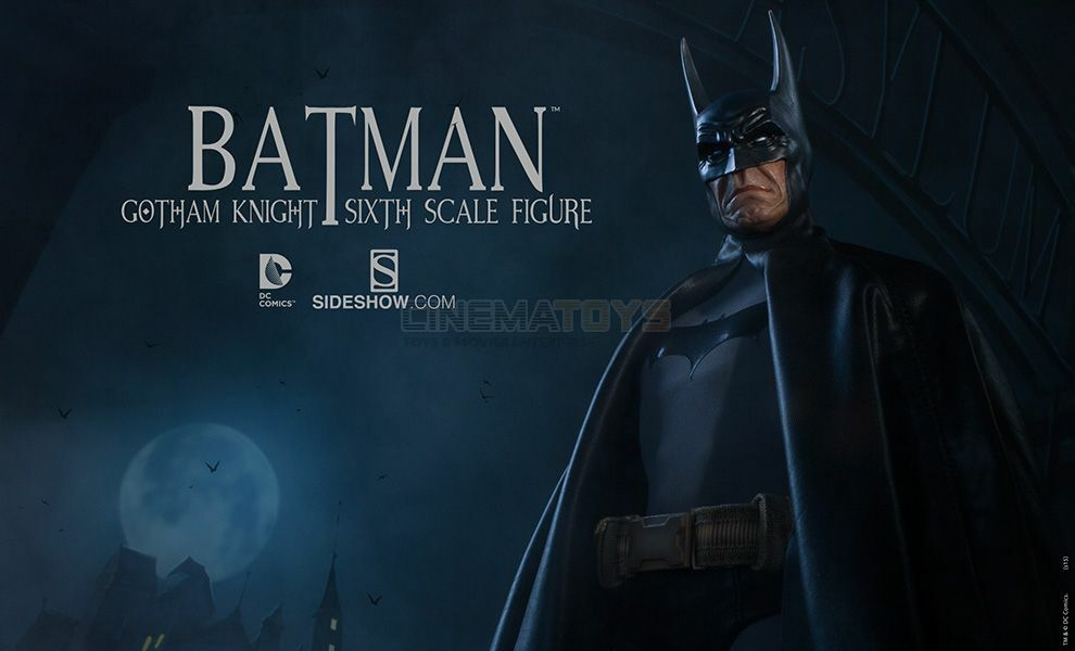 DC Batman The Dark 'Gotham Knight' Sixth Scale Action Figure 1\6 Sideshow Rare