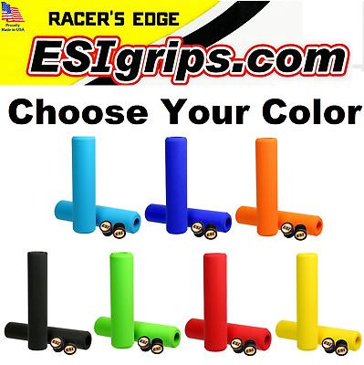 50g Multiple colours ESI Racer/'s Edge Silicone MTB Bike Handlebar Bar Grips