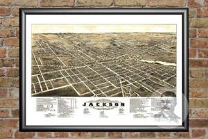 Old-Map-of-Jackson-MI-from-1881-Vintage-Michigan-Art-Historic-Decor