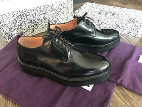 EYTYS KINGSTON Black Leather Platform Derby Shoe m