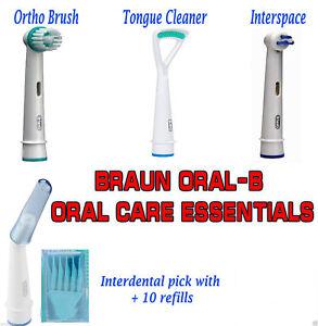 100-Autentico-Braun-Oral-B-Orale-Cura-Essenziale-Tutte-4-Modelli-spazzolino-da-denti-teste