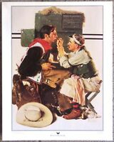 """Gary Cooper as The Texan by Norman Rockwell - 16""""X 20"""" Western Art Print"""