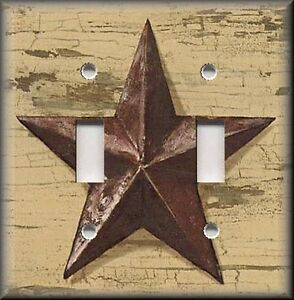 Light switch plate cover country primitive home decor for Barn star decorations home