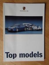 PORSCHE OFFICIAL MODEL CARS orig 1997 1998 UK Mkt Sales Brochure
