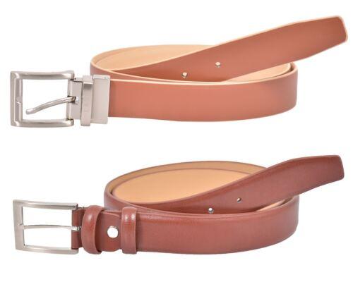 NV UOMO VERA PELLE Designer Cintura Double Face & Alla Moda Jeans Fibbia in metallo