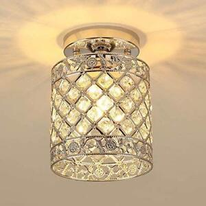 Mini Modern Flush Mount Ceiling Light Fixture Crystal Chandeliers Hallway Lamp Ebay