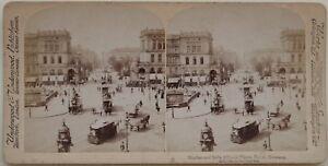 Berlino Place Animazione Germania Foto Stereo Vintage Albumina 1894