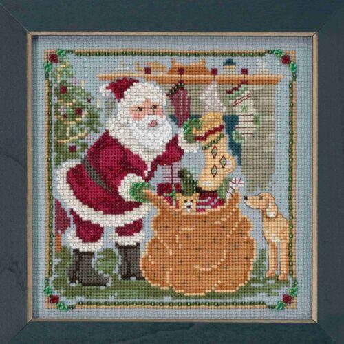 Jolly Old Elf Cross Stitch Kit Mill Hill 2018 St Nick Visit Quartet MH171833