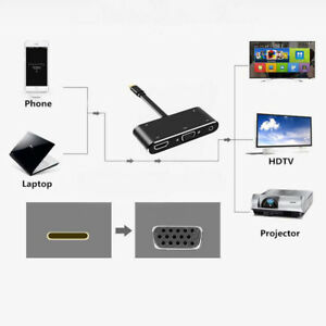 5 in 1 Type C to 4K HD HDMI USB3.0 Hub USB-C Converter Adapter for Macbook Pro